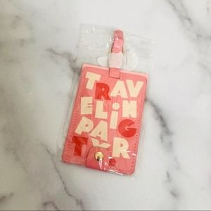 Ban.do traveling party luggage tag pink